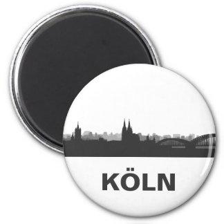 Köln Skyline Kühlschrank Magnet Runder Magnet 5,7 Cm