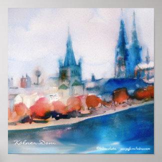 kölner Dom Cologne cathedral Germany Poster