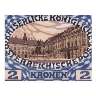 Koloman Moser- Entwurf für österreichische Postkarte