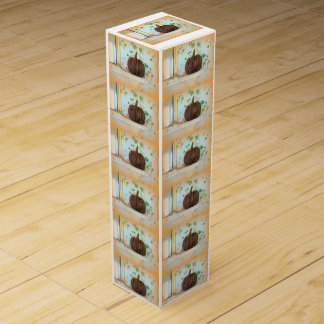 Kolonialkorbkürbis-Wein-Geschenkboxen Wein-Geschenkverpackung