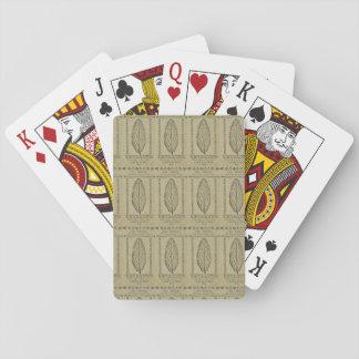 Kolonialschillings-Anmerkungs-Spielkarten Spielkarten