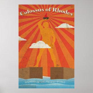 Koloss von Rhodos das alte Wunder-Plakat Poster