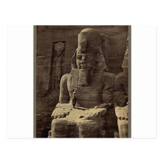 Kolossale Zahl, Abu Sunbul, Ägypten circa 1856 Postkarte