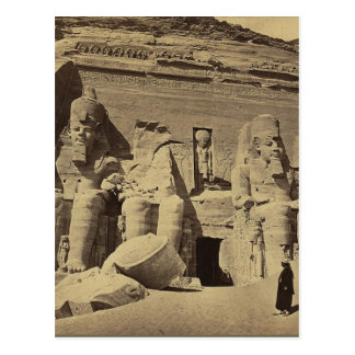 Kolossale Zahlen, der große Tempel bei Abu Sunbul Postkarte