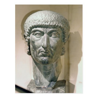 Kolossaler Kopf des Kaisers Constantine I Postkarte