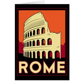 Kolosseum-Europas Roms Italien Vintage retro Reise Karte