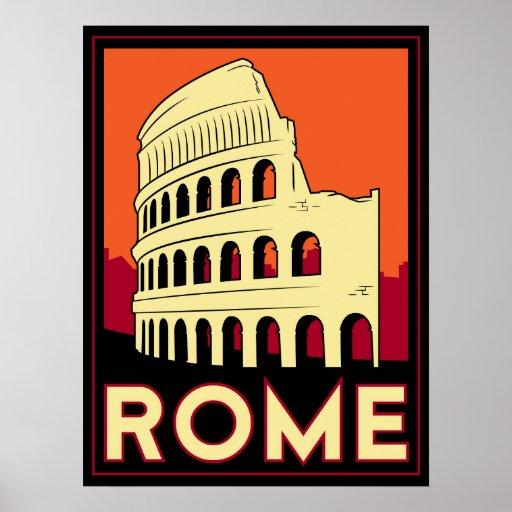 Kolosseum-Europas Roms Italien Vintage retro Reise Plakate