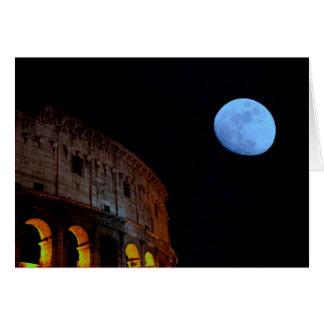Kolosseum von Rom im Mondschein Karte