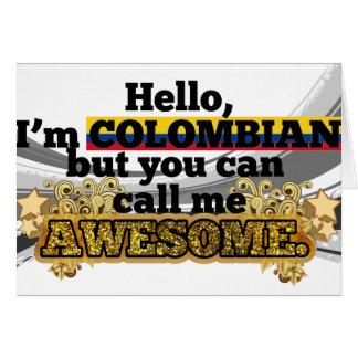 Kolumbianisch, aber rufen Sie mich fantastisch an Karte
