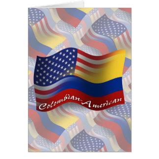 Kolumbianisch-Amerikanische wellenartig bewegende Karte