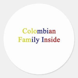 Kolumbianische Familie nach innen Runde Sticker