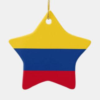 Kolumbianische Flagge Keramik Ornament