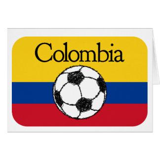Kolumbianische Flagge mit Fußball Karte