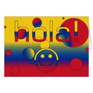 Kolumbianische Geschenke: Hallo/Hola + Smiley Karte