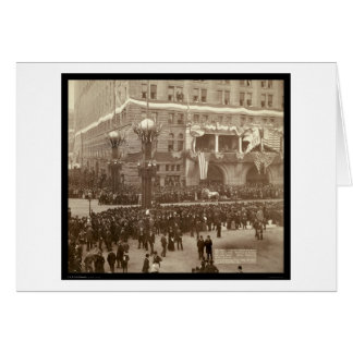 Kolumbianische Parade Chicago IL 1892 Karte