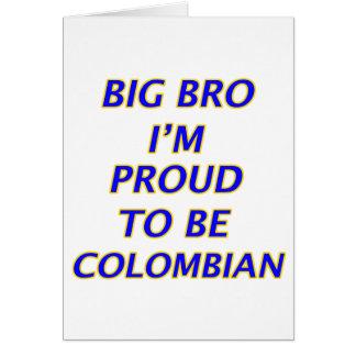 kolumbianischer Entwurf Karte