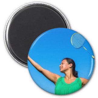 Kolumbianischer Frauen-Aufschlag mit Runder Magnet 5,7 Cm