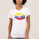 Kolumbianischer LippenT - Shirt-Entwurf für Frauen
