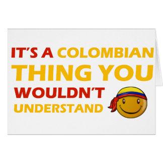 Kolumbianischer smileyentwurf karte