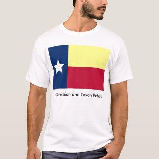Kolumbianischer und Texan-Stolz T-Shirt