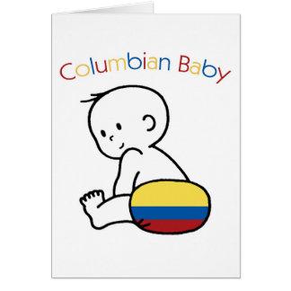 Kolumbianisches Baby Karte