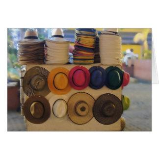 Kolumbianisches Hut-Geschäft im Park Karte