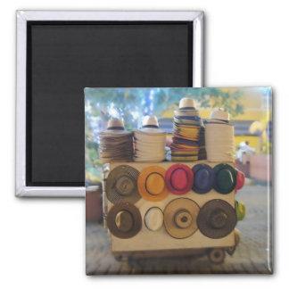 Kolumbianisches Hut-Geschäft im Park Quadratischer Magnet