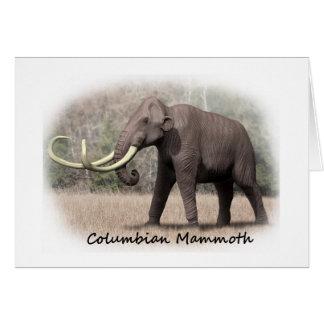 Kolumbianisches Mammut Karte
