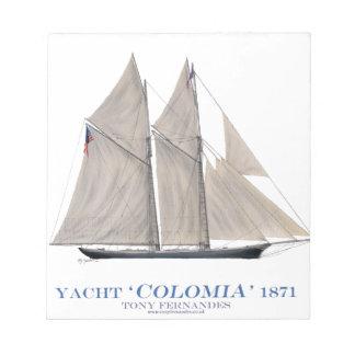 Kolumbien 1871 notizblock