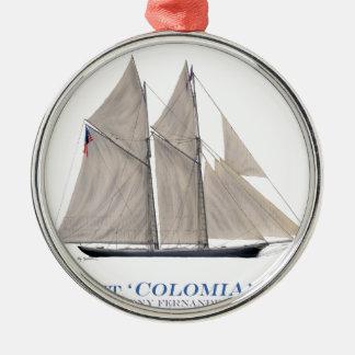 Kolumbien 1871 silbernes ornament