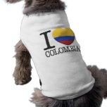 Kolumbien Ärmelfreies Hunde-Shirt