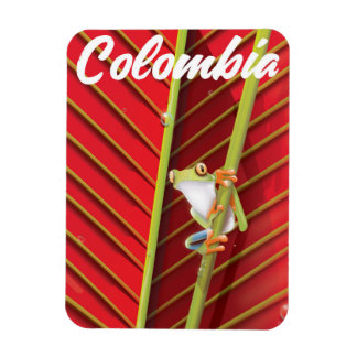 Kolumbien-Baumfrosch-Reiseplakat Magnet