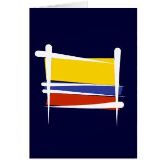 Kolumbien-Bürsten-Flagge Karte
