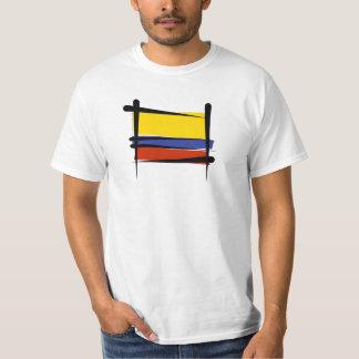 Kolumbien-Bürsten-Flagge Tshirts