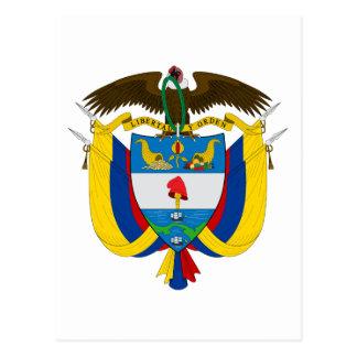 Kolumbien-Emblem Postkarte