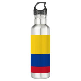 Kolumbien-Flagge Edelstahlflasche