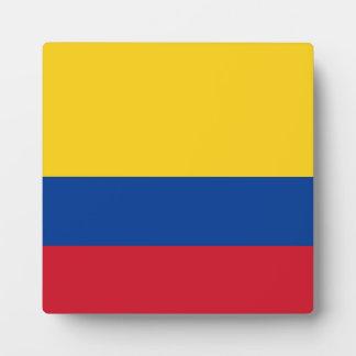 Kolumbien-Flagge Fotoplatte