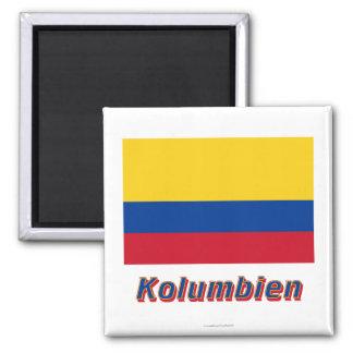 Kolumbien Flagge MIT Namen