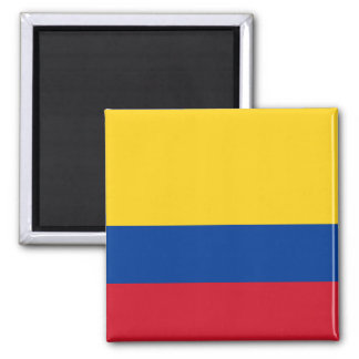 Kolumbien-Flagge Quadratischer Magnet