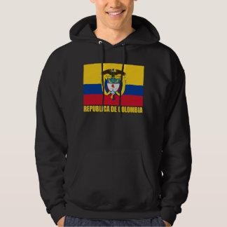 Kolumbien-Flagge u. Wappen Kapuzensweater