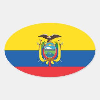 Kolumbien-Flaggen-Euro-ähnlicher Aufkleber