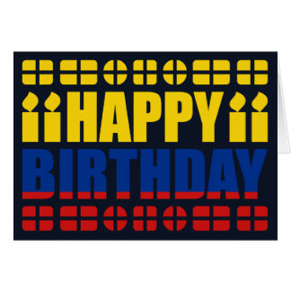 Kolumbien-Flaggen-Geburtstags-Karte Karte