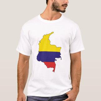 Kolumbien-Flaggenkarte T-Shirt