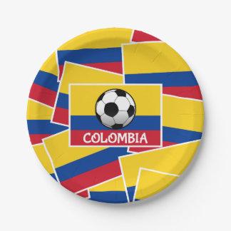 Kolumbien-Fußball Pappteller