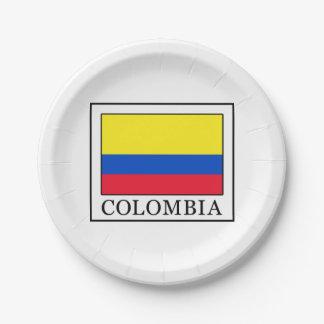Kolumbien Pappteller