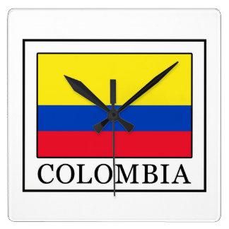 Kolumbien Quadratische Wanduhr
