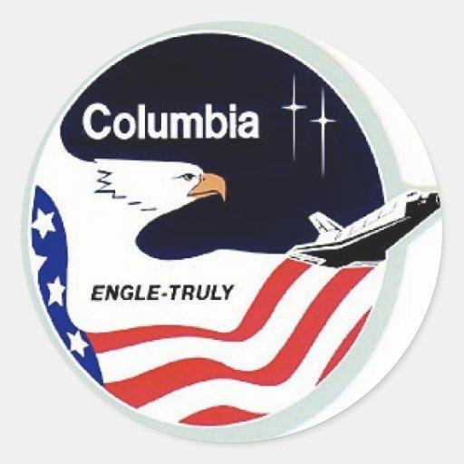 Kolumbien-Raumfähre Runde Sticker