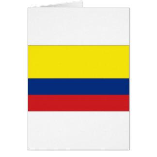 Kolumbien-Staatsflagge Karte