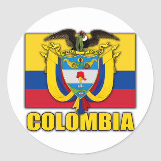Kolumbien-Wappen Runder Sticker