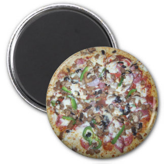 Kombinations-Pizza Runder Magnet 5,1 Cm